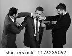 businessmen wear smart suits...   Shutterstock . vector #1176239062