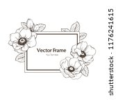 ink  pencil   the  flowers of... | Shutterstock .eps vector #1176241615