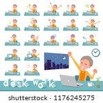 a set of old women on desk work.... | Shutterstock .eps vector #1176245275