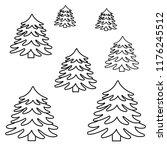 set of handdrawn christmas...   Shutterstock .eps vector #1176245512