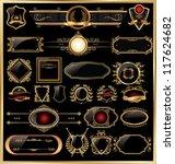 golden luxury ornate frames   Shutterstock .eps vector #117624682