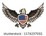illustration of eagle with... | Shutterstock .eps vector #1176257032