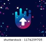 upload arrow simple icon.... | Shutterstock .eps vector #1176259705