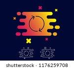 refresh arrow line icon.... | Shutterstock .eps vector #1176259708