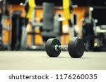 gym and dumbbell weight... | Shutterstock . vector #1176260035