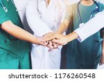 doctor and nurse coordinate... | Shutterstock . vector #1176260548