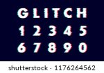 digits numeral number vector...   Shutterstock .eps vector #1176264562