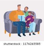 vector cartoon illustration of... | Shutterstock .eps vector #1176265585