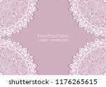 invitation or card template... | Shutterstock .eps vector #1176265615