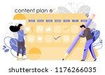 content plan vector... | Shutterstock .eps vector #1176266035
