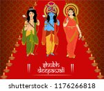 god rama  laxman and goddess... | Shutterstock .eps vector #1176266818