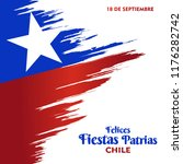chile independence day 18... | Shutterstock .eps vector #1176282742