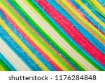 gummy candy on vivid backdrop. | Shutterstock . vector #1176284848