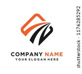 faster the future logo template ... | Shutterstock .eps vector #1176285292