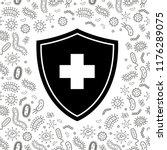 black and white hygienic shield ... | Shutterstock .eps vector #1176289075