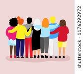friends forever. friendly group ... | Shutterstock .eps vector #1176292972