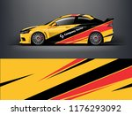 racing car wrap. blue abstract... | Shutterstock .eps vector #1176293092
