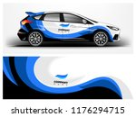 racing car wrap. abstract strip ... | Shutterstock .eps vector #1176294715