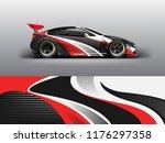 racing car wrap. abstract strip ... | Shutterstock .eps vector #1176297358
