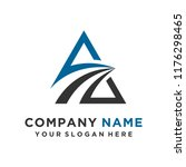 faster the future logo template ... | Shutterstock .eps vector #1176298465