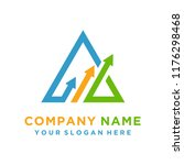 faster the future logo template ... | Shutterstock .eps vector #1176298468