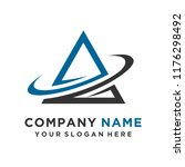 faster the future logo template ... | Shutterstock .eps vector #1176298492