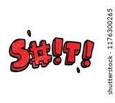 cartoon doodle swear word   Shutterstock .eps vector #1176300265