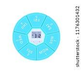 weekly pill box case timer... | Shutterstock .eps vector #1176301432
