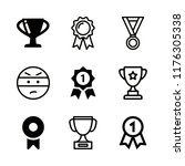 9 honor icons with first place... | Shutterstock .eps vector #1176305338