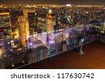 tourist binoculars and new york ...   Shutterstock . vector #117630742