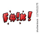 cartoon doodle swear word   Shutterstock .eps vector #1176312175