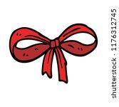 cartoon doodle tied bow | Shutterstock .eps vector #1176312745