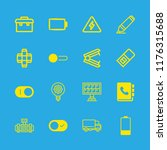 16 supply icons with solar... | Shutterstock .eps vector #1176315688