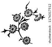 vintage victorian floral... | Shutterstock .eps vector #1176317512