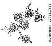 vintage victorian floral... | Shutterstock .eps vector #1176317515