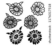 vintage victorian floral... | Shutterstock .eps vector #1176317518