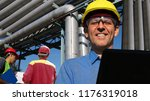 group of engineers working with ... | Shutterstock . vector #1176319018