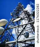 telecommunication steel tower | Shutterstock . vector #1176322282