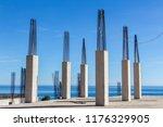 reinforcement installation ...   Shutterstock . vector #1176329905