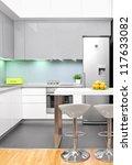 a view of a modern kitchen... | Shutterstock . vector #117633082