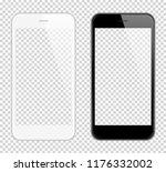 realistic smart phone  mock up. ... | Shutterstock . vector #1176332002