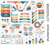 collection of infograph people... | Shutterstock . vector #1176332008