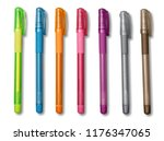 color pencils with faces... | Shutterstock . vector #1176347065