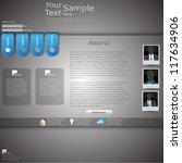 minimal elegant web site... | Shutterstock .eps vector #117634906