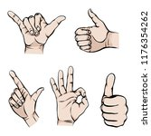 like or cool hand sign colorful ... | Shutterstock .eps vector #1176354262