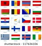 sticker flags  europe  1 of 3 . ... | Shutterstock .eps vector #117636106