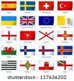 sticker flags  europe  3 of 3 . ... | Shutterstock .eps vector #117636202
