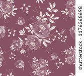 seamless pattern with flowers... | Shutterstock . vector #1176368698