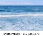seascape with a motor boat on... | Shutterstock . vector #1176368878