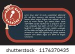 a text frame for your text with ... | Shutterstock .eps vector #1176370435